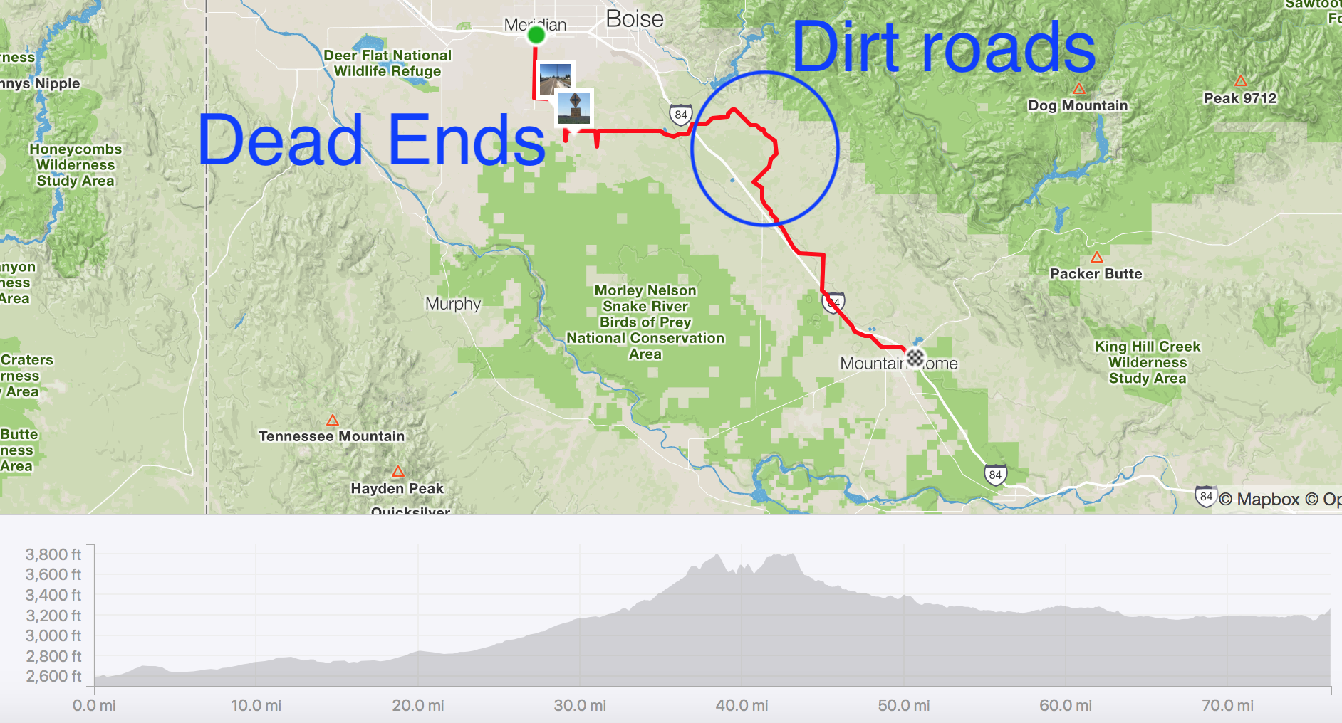 Ride from Hell – Meridian to Mountain Home, Idaho – PedalJourney